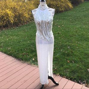 Oleg Cassini Fully beaded prom / evening gown
